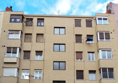 Rehabilitación de fachada en la calle Mugika y Butron en Bilbao