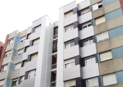 Rehabilitacion energética mediante fachada ventilada composite en Bilbao
