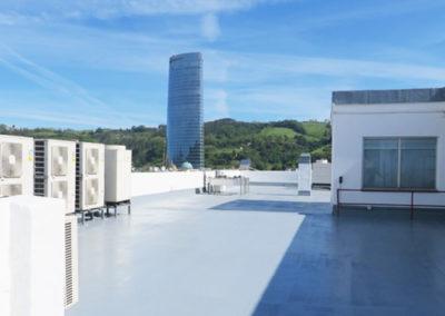 Impermeabilización de cuberta de edificio en Máximo Aguirre 18 bis de Bilbao