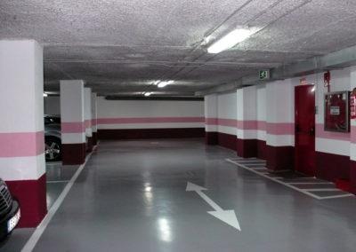 Restauración de garaje comunitario en calle Gran Vía de Bilbao