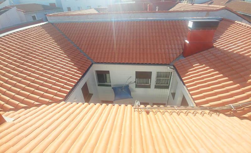 Reparación y estabilización de cubierta en Jenaro Oraa 26 de Santurtzi