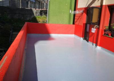 Impermeabilización de terraza en Sotera de la Mier 22 de Portugalete
