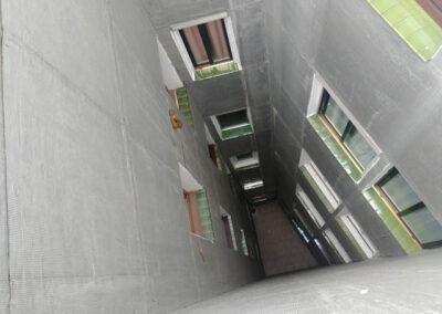 Rehabilitación energética de Fachadas SATE de patios y Cubierta en Pedro Icaza, 30 de Santurtzi.