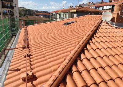 Rehabilitación energética de cubierta en Mendialde 41, Ortuella